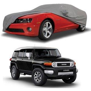 RideZ Water Resistant  Car Cover For Maruti Suzuki Ciaz (Grey With Mirror )