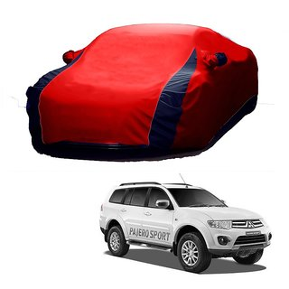 DrivingAID Water Resistant  Car Cover For SsangYong Rexton (Designer Red  Blue )