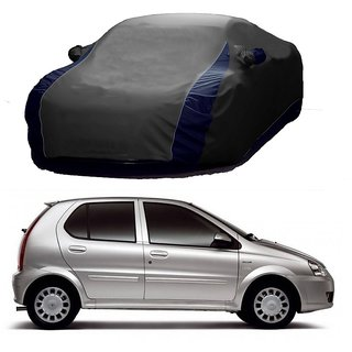 Bull Rider Water Resistant  Car Cover For Toyota Innova (Designer Grey  Blue )