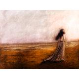Bride At The Beach Original Painting Print (30 X 40 Cm, 12 X 16 In )