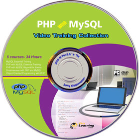 PHP with MySQL Collection (5 courses- 34 Hours) Video Training DVD