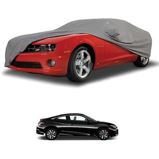 RideZ Water Resistant  Car Cover For Toyota Camry Hybrid (Grey With Mirror )