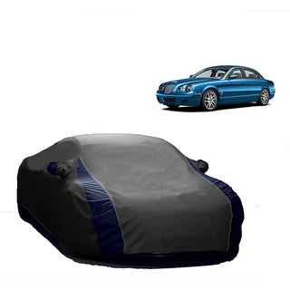 RideZ Water Resistant  Car Cover For Tata Sonata Embera (Designer Grey  Blue )