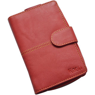Knott Exclusive Red Leather Wallet for Women