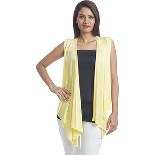 Teemoods Ultrachik Sleeveless Shrug Yellow