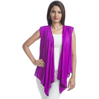 ff7d433ca2 Teemoods Ultrachik Sleeveless Shrug Purple