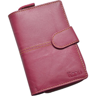 Knott Exclusive Pink Leather Wallet for Women
