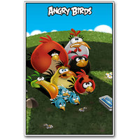Angry Birds Cartoon Poster By Artifa