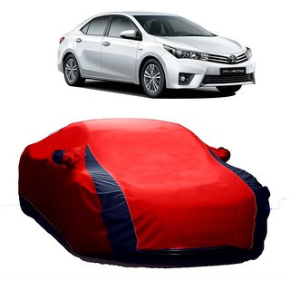 RideZ Water Resistant  Car Cover For Toyota Altis (Designer Red  Blue )