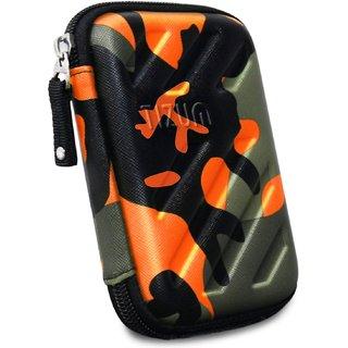 TIZUM External Hard Drive Case for 2.5-Inch Hard Drive GPS -Preum Edition (Camouflage Orange)