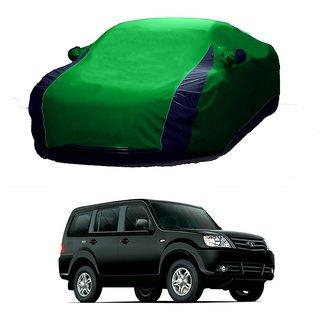 RoadPluS Water Resistant  Car Cover For Hyundai Grand I10 (Designer Green  Blue )