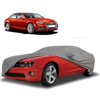 SpeedRo Water Resistant  Car Cover For Audi A4 (Grey With Mirror )