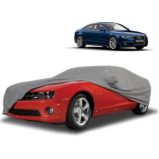 SpeedRo Water Resistant  Car Cover For Audi A3 (Grey With Mirror )