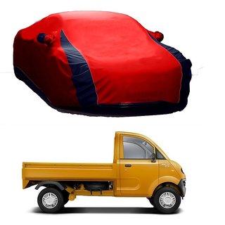 Bull Rider Car Cover For Renault Kwid (Designer Red  Blue )