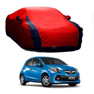SpeedRo Water Resistant  Car Cover For Chevrolet Beat T-1 (Old Model) (Designer Red  Blue )
