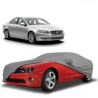 SpeedRo Water Resistant  Car Cover For Tata Sumo Grande (Grey With Mirror )