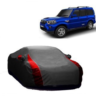 SpeedRo Water Resistant  Car Cover For Nissan Terracan (Designer Grey  Red )