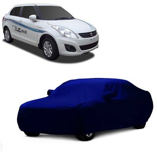 RoadPluS Water Resistant  Car Cover For Mahindra 100 (Blue With Mirror )
