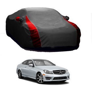 RoadPluS Water Resistant  Car Cover For Mercedes Benz Benz C-Class (Designer Grey  Red )