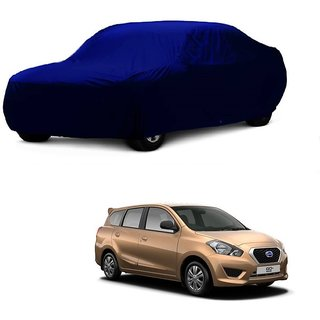 SpeedRo Water Resistant  Car Cover For Nissan Go+ (Blue Without Mirror )