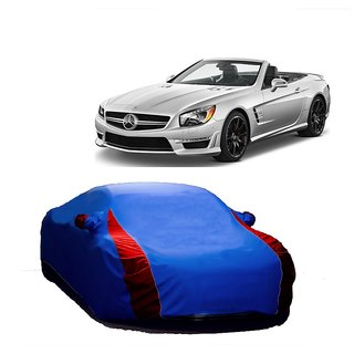 RoadPluS Water Resistant  Car Cover For Skoda Superb (Designer Blue  Red )