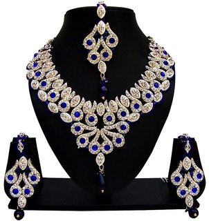Jewels Capital Exclusive Blue White Necklace Set /S 1388
