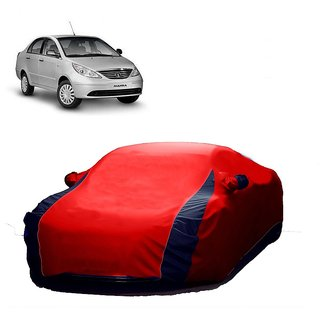 SpeedRo Water Resistant  Car Cover For Mitsubishi Pajero Sport (Designer Red  Blue )