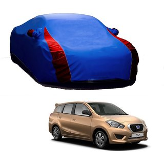 SpeedRo Water Resistant  Car Cover For Nissan Go+ (Designer Blue  Red )