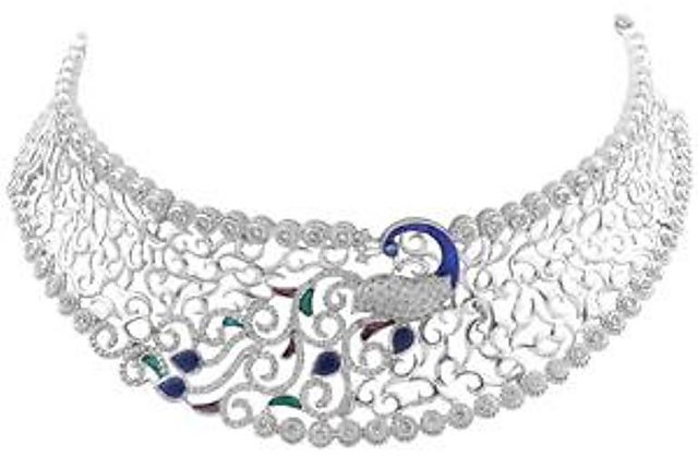 Necklace 925 Sterling Silver Jewellery Original with Cubic Zirconia
