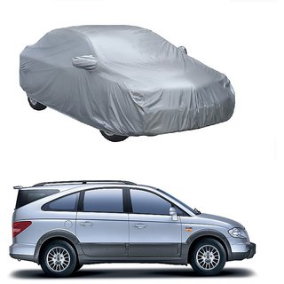 RoadPluS Car Cover For Toyota Sienna (Silver With Mirror )