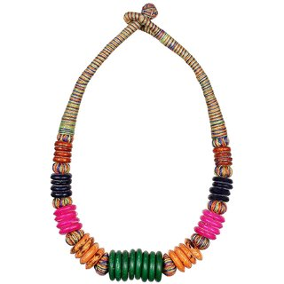 Choker style Mulit-colored necklace for women with small Beads
