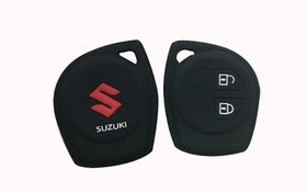 Silicone Car Key Cover for Maruti Suzuki Swift , Dzire , Ertiga ( Black)