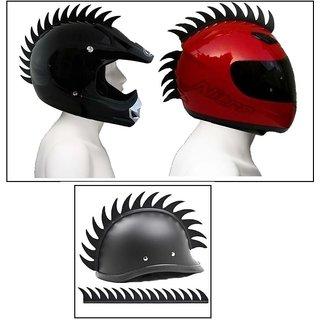 Cuttable Helmet Mohawk Helmet Spikes Bike Helmet Spikes for rider's(pack of 1)