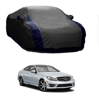 AutoBurn Water Resistant  Car Cover For Mercedes Benz Benz S 350 (Designer Grey  Blue )