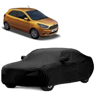 AutoBurn UV Resistant Car Cover For Renault Fluence (Black With Mirror )