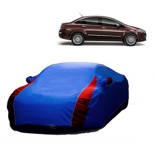 AutoBurn All Weather  Car Cover For Nissan Micra (Designer Blue  Red )