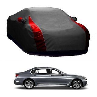 SpeedRo Water Resistant  Car Cover For BMW 5 Series (Designer Grey  Red )