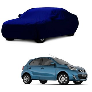 InTrend Water Resistant  Car Cover For Tata Manza (Blue With Mirror )