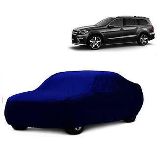 Bull Rider All Weather  Car Cover For Nissan Go (Blue Without Mirror )