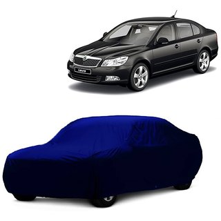 SpeedGlorY Water Resistant  Car Cover For Fiat Linea (Blue Without Mirror )