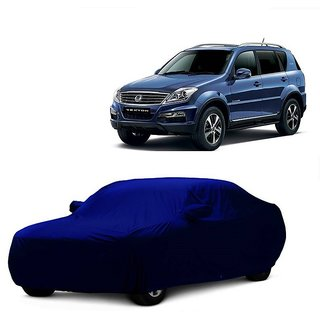 SpeedRo Water Resistant  Car Cover For Nissan Go (Blue With Mirror )