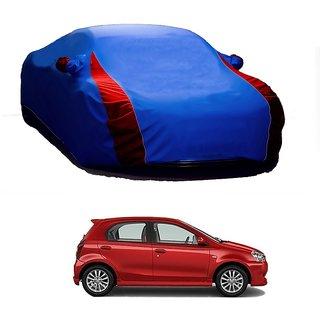 Bull Rider Car Cover For Toyota Etios (Designer Blue  Red )