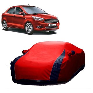 DrivingAID All Weather  Car Cover For Ford Figo (Designer Red  Blue )