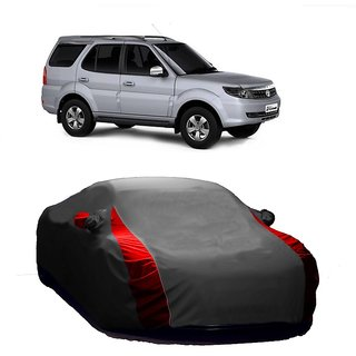 Bull Rider UV Resistant Car Cover For Maruti Suzuki Swift Old (Designer Grey  Red )