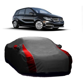 AutoBurn Water Resistant  Car Cover For Maruti Suzuki Baleno (Designer Grey  Red )