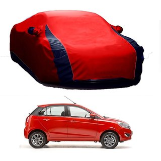 MotRoX Water Resistant  Car Cover For Mercedes Benz Benz A-Class (Designer Red  Blue )