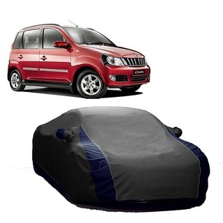 SpeedRo Water Resistant  Car Cover For Tata Safari Dicor (Designer Grey  Blue )