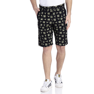 TAB91 Men's Cotton Printed Shorts