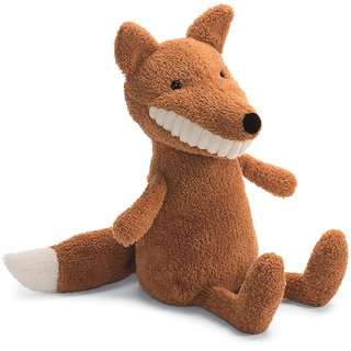 Adorable Jellycat Toothie Plush Fox in Brown