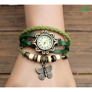true choice super fast selling ledies Casual Analog watche for girls green colour